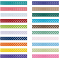 10mm Dotty White Grosgrain Ribbon