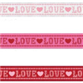 10mm Love/Hearts Grosgrain Ribbon