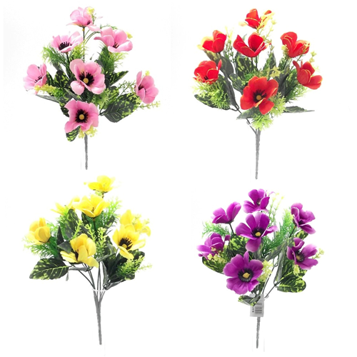 Bulk Buying Artificial Flowers Bushes Flower Bushes 50p And